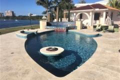 Fish Pool Mosaic Boca