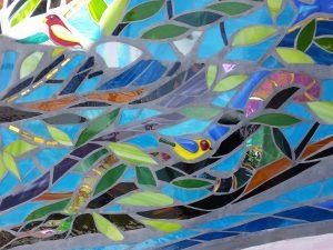 Tree of Life Mosaic bird detail
