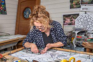 Dar in her Gabriola studio